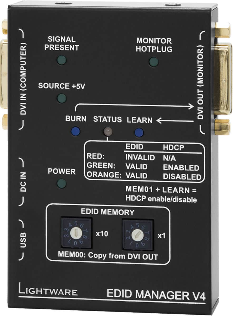 Lightware EDID HDCP Manager V4